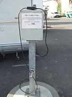 Electric Hookup for Motorhome in a German Campground