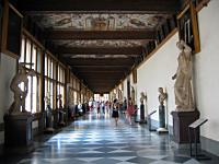 A Hallway in the Uffizi Gallery, Florence, Italy - CC
