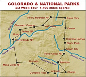 RV Hire United States Tour of Colorado and National Parks
