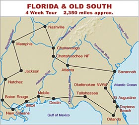 RV Hire United States Tour of Florida and the Old South
