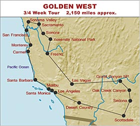 RV Hire United States Tour of the Golden West