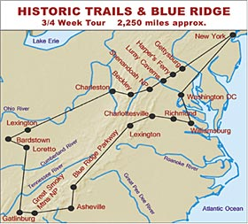 RV Hire United States Tour of Historic Trails and Blue Ridge