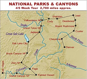 RV Hire United States Tour of National Parks and Canyons