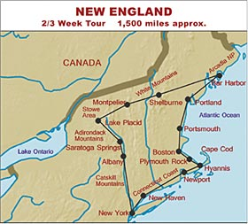 RV Hire United States Tour of New England