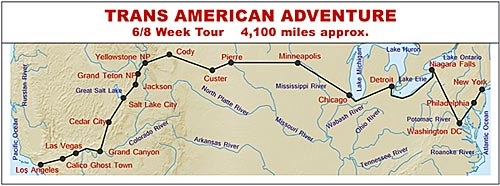 RV Hire Tour - Trans American Adventure