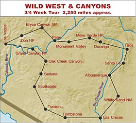 RV Hire Tour of the Wild West and Canyons