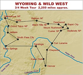 RV Hire Tour of Wyoming and the Wild West
