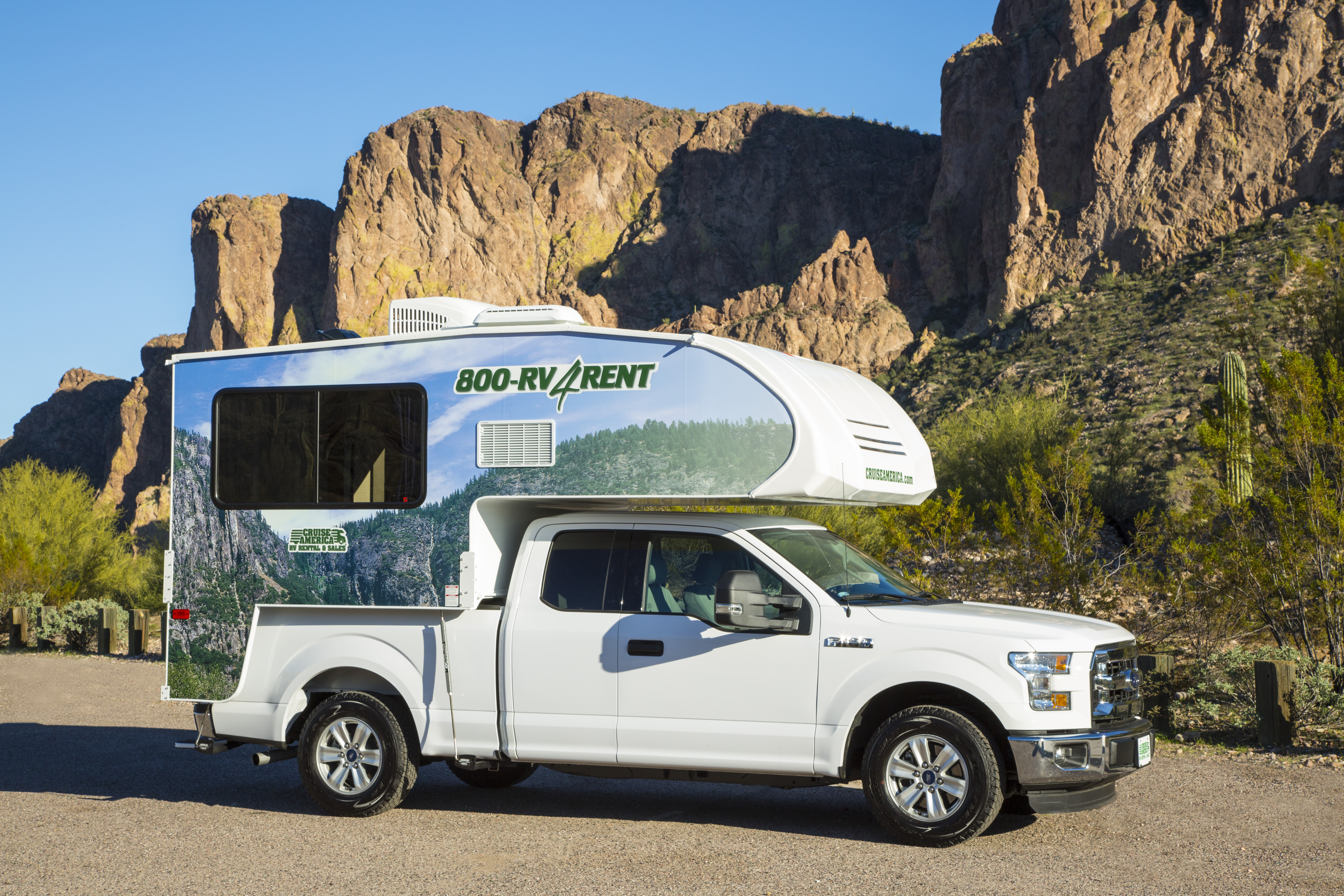 Cruise america t17 truck camper usa amp canada motorhome holidays - Outside