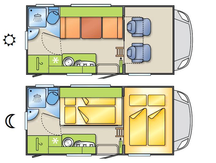 motorhome hire croatia mini camper 2 1. Black Bedroom Furniture Sets. Home Design Ideas